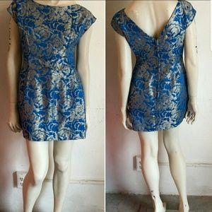 Vintage Brocade Mini Dress
